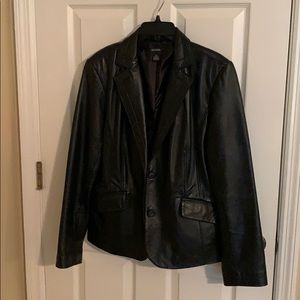 Alfani black leather jacket